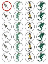 X24 LIZARD SNAKE REPTILE BIRTHDAY CUP CAKE TOPPERS ON EDIBLE RICE PAPER