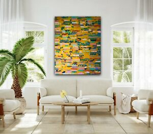 Safari Sunset Abstract Painting 80x100cm Original Canvas Art By Kim Magee