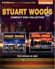 Stuart Woods 2 AUDIOBOOKS Dirty Work AND Reckless Abandon CD UNABRIDGED
