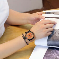 Women Casual Faux Leather Watch Ladies Stainless Steel Dial Analog Wrist Watches