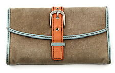 FOSSIL Quality Crafted Canvas Leather Trim Wallet Clutch 92638