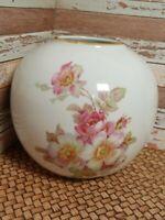 Gerold Porzellan Tettau Bavaria Round Pink Rose Floral Vase #735712 W. Germany