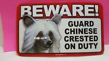 SAMOYED~BEWARE DOG SIGN~LAMINATED CARD~NEW~SCANDICAL~FREE US SHIPPING~