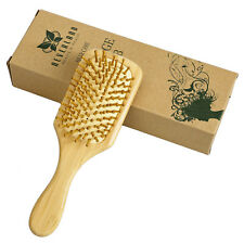 Wooden Combs Paddle Brush Hair Care Spa Cushion Massage Anti static Comb Women