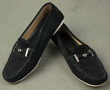 TOD'S Ladies Black Suede LOAFERS - Size 36.5 - UK 4 - US 6.5 - TODS