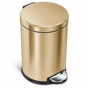 Simplehuman Kosmetikeimer 4,5 L Edelstahl Farbe Messing Gold Treteimer Mülleimer