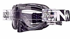 RIP N ROLL HYBRID MOTOCROSS MX ENDURO GOGGLES RnR NEW mx BLACK