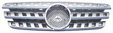 Front Grille Mercedes Benz W163 M-Class ML 96-05 Chrome & Silver w/Emblem ML320