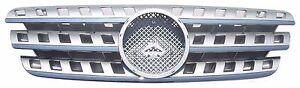 Front Grille Fit for Mercedes Benz W163 M-Class 96-05 Chrome & Silver w/Emblem