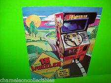 18 WHEELER By MIDWAY 1979 VIDEO ARCADE GAME MACHINE SALES FLYER 1-SIDED VERSION
