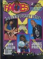 Faces Rocks Oct 1986 Van Halen Judas Priest Ozzy Osbourne Metallica MBX94