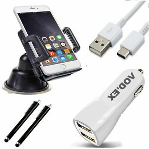 5in1 Car Set Charging Cable Car Holder 2x Touchpen 1m Type C Cable HS2