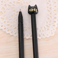 1PC Black Cat Gel Pen Kawaii Stationery Creative Gift School Supplies Gold U9O5