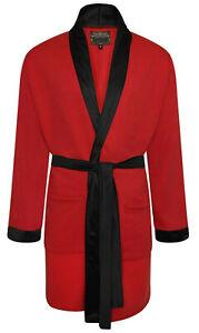 Mens Gents Dressing Gown Soft Fleece Warm Nightgown Robe Bathrobe