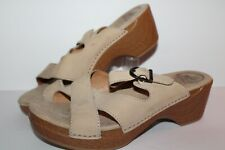 Dansko Buckle Casual Sandals, #9802212200, Natural,Leather, Women's ~7.5 / EU 38