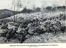 1915 Knjazevac: Bulgaren erstürmen den Glogovicaberg * antique print