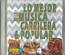 Lo Mejor De La Musica Carrilera & Popular Volume 4 Latin Music CD New