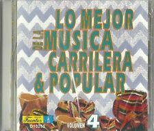 Lo Mejor De La Musica Carrilera & Popular Volume 4 Latin Music CD New
