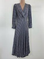 NEXT black & white gingham check maxi dress size 10