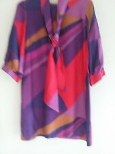 French Connection women  TIE dress SIZE 12  PURPLE PINK NEW NO TAGS