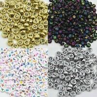 Wholesale 100Pcs Cube Round Acrylic Alphabet Number Beads DIY Art Jewelry Crafts