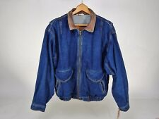 Vintage Sears Men's Authentic Wears Mirage Denim Jacket/Coat Made in Brazil L