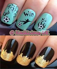 NAIL ART SET 443 WORLD CUP/PREMIER LEAGUE FOOTBALL TRANSFER/STICKERS & GOLD LEAF
