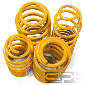AUDI A4 B5 FRONT WHEEL DRIVE ONLY YELLOW SUSPENSION COIL RACE LOWERING SPRINGS