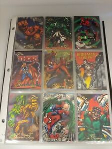 1994 Marvel Flair Annual Trading Cards COMPLETE BASE SET, #1-150 - NM/M! - Fleer