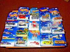 Lot of 18 Hot Wheels Diecast 1:64 scale Cars Grave Rave Wagon, Cabbin Fever, Ice