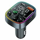 Handsfree Call Bluetooth Adapter for Car,FM Transmitter with QC3.0+PD Port