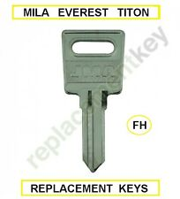 Everest / Mila / Titon /Jackloc FH188  Window handle Keys Cut To Code number