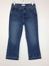 MADEWELL $130 Retro Crop Bootcut Jeans In Callahan Wash Distress Hem W27