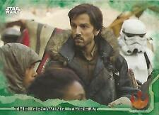 """Star Wars Rogue One Series 1: #47 """"The Growing Threat"""" Green Parallel Base Card"""