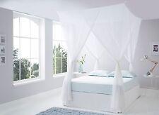 Luxueux top qualité coton boîte moustiquaire king size-trainer avec 4 crochets