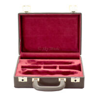 New High Quality Clarinet Solid Wood Professional Case Brown/Red Classic