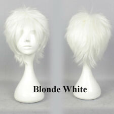 Female Male Anime Hair Wig Short Straight Synthetic Wigs Cosplay Party Halloween