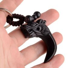 Wooden Lucky Keychain 龙牙 Dragon Style Handcraft Wood Chinese Good Fortune BWS023