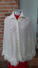 Vintage Knit Cape stole cloke knitted sleeveless jacket by Billie Jo Sportswear
