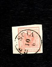 AUSTRIA(Lombardy-Venetia), 1850, Sc #4b, Used, Very Fine, Wide Margins
