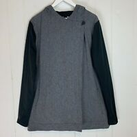 Under Armour Womens Large Transit Wrap Athletic Jacket Loose Black Gray NWOT