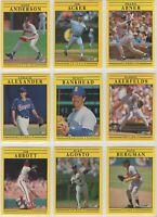1991 Fleer Baseball Team Sets **Pick Your Team**