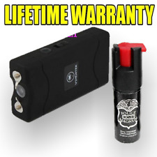 Vipertek 900 Million Volt Rechargeable Stun Gun LED Light FREE Pepper Spray