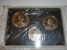 "- INDIA - 3 COIN UNC. SET - ""SUBHAS CHANDRA BOSE CENTENARY"" -1997-RS.100,50 & 10"