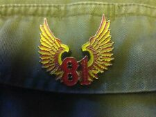 hells angels support 81nomads vest hat pin badge metal patch 81red&white forever