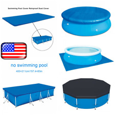 Rectangle Swimming Pool Cover For Paddling Garden Bestway Intex Swimming Pools