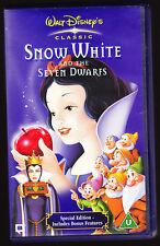 DISNEY - SNOW WHITE - VHS PAL (UK) VIDEO - DIGITALLY REMASTERED + BONUS FEATURES