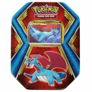 Pokemon TCG Salamance Collector Tin With 3 10-Card Booster Packs XY EVOLUTIONS