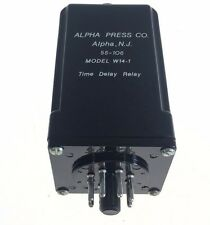 USED ALPHA PRESS COMPANY 55-106 W14-1 TIME DELAY RELAY, FAST SHIPPING, G156