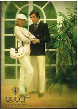 Publicité Advertising 1979 Haute couture Homme et femme Gucci